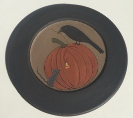 32941 Crow & Mouse Pumpkin Plate