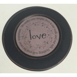 33082L Wood Plate Love - It's really very simple, love is our walk and our talk