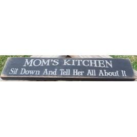 12656 - Mom's Kitchen primitive Wood Block