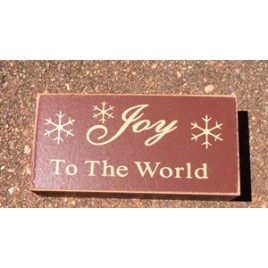 Primitive Wood Block 6099 - Joy to the World
