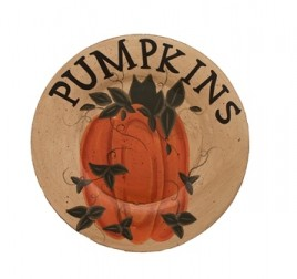 MWF9354 - Pumpkin Wood Plate