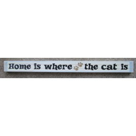 PS-038 Home is Where the Cat is wood block