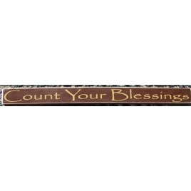 PBW808R-Count Your Blessings Wood Block