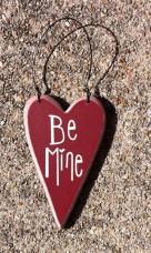 Wood Valentine Heart ro-493 Be Mine