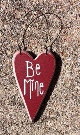 Wood Valentine Heart ro-493 Be Mine