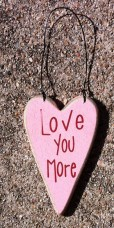 Wood Valentine Heart RO495LYM - Love You More