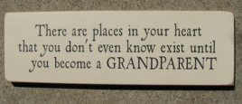 Primitive Country T1696 There are Places in heart Grandparent  Wood Sign