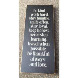 T2028BK - Be Kind Wood Sign