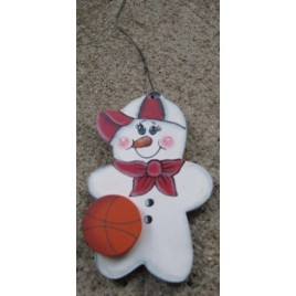 WD1059 - Basketball Snowman Ornament