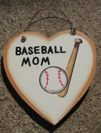 WD1900D - Baseball Mom wood sign