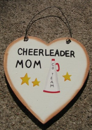 WD1900G - Cheerleader Mom wood sign