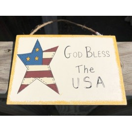 WS96 - God Bless America wood sign
