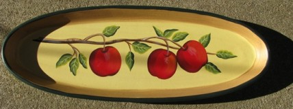 XP-3 Apple Oval Wood Plate