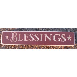 9Bless- Blessings Wood Engraved Block