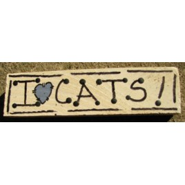 I love Cats Block
