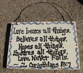 CS6212 - Love Never Fails Sign