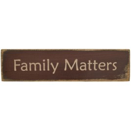 12571-Family Matters wood Block