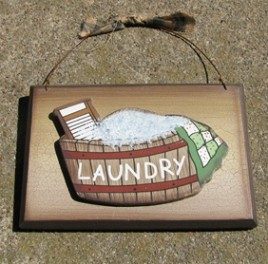 CWP10-Laundry Wood Sign
