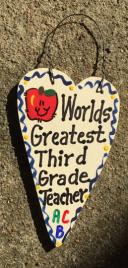 Teacher Gifts 3013  Worlds Greatest  Third Grade Teacher