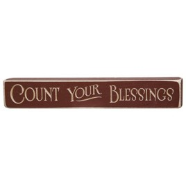 G1201E - Count Your Blessings Wood Engraved Block