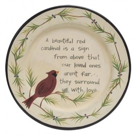 G34395 Love One Cardinal Plate