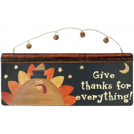 Fall Decor Metal Sign G35740-Give Thanks for Everything!