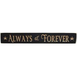 G9015 - Always & Forever wood engraved sign