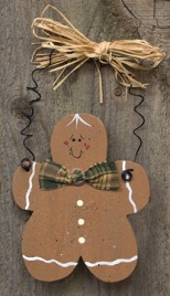 Wood Christmas Ornament D0035CWC - Gingerbread Man
