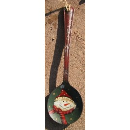 Snowman Spoon Metal Christmas Ornament GLK273S