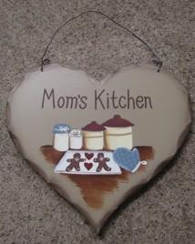 HP13 -Mom's Kitchen wood heart