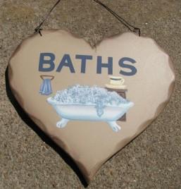 HP16 - Baths wood heart