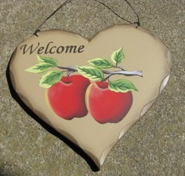 Welcome Apple Heart HP20 Wood