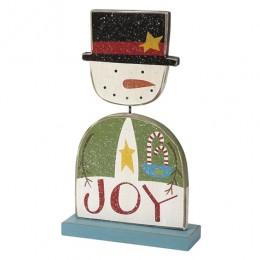 HW4480 - Joy Standing Wood Snowman
