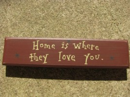 m9902h Home is where they love you wood block