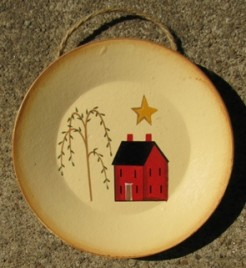mini 5 - Mini wood SaltBox House Plate