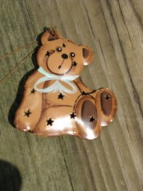 Christmas Ornament OR314 - 3DPunched Teddy Bear