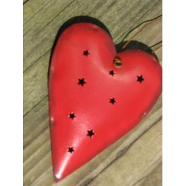 OR316 - Red Heart tin punch ornament