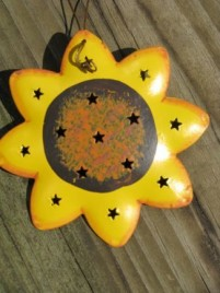 Metal Christmas Ornament OR321 - Tin Sunflower