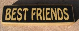 pb6122B - Best Friends wood block