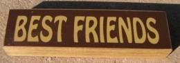 pb6122R - Best Friends wood block