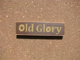 PBW961R - Old Glory wood block