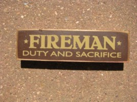 PBW990R - Fireman Duty and Sacrifice Wood Block
