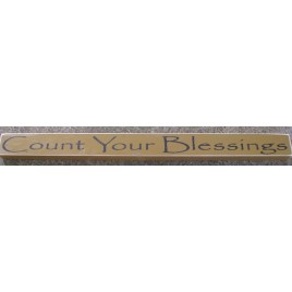 PBW808M-Count Your Blessings Wood Block