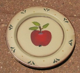 RPS1 - Small  Apple Wood Plate
