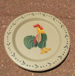 RPS10 - Small Wood Rooster Plate