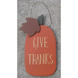 RW8378 Give Thanks Wood Pumpkin