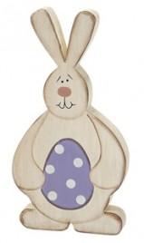 RW8408 Bunny w/Egg wood shelf sitter