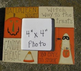 Halloween Night Photo Frame Wood RW-8547