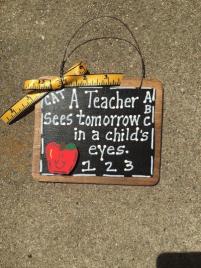 Teacher Gift  S46 A Teacher Sees Tomorrow in a child's eyes Slate