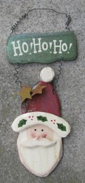 1234HONB - Ho HO HO Santa Wood Sign